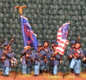 15mm, American Civil War Union Infantry AB 24 Figures